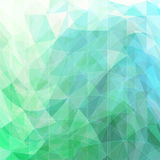 Triangular wavy abstract background. Green and blue Royalty Free Illustration
