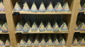 Triangular wild garlic cheeses Royalty Free Stock Photography