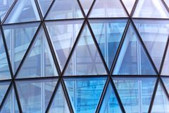 Triangular windows Royalty Free Stock Image