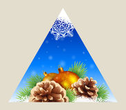 Triangular winter background, Stock Images