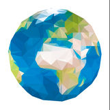 Triangular world map Stock Images