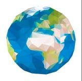 Triangular world map Stock Images