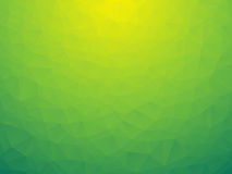 Triangular yellow green bio background Royalty Free Stock Image