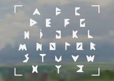 Triangulated шрифт Стоковые Изображения