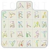 Triangulated шрифт Стоковое Изображение