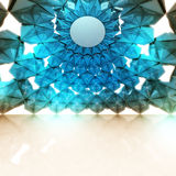 Triangulated blue interior frame structure wallpaper study. Illustration Royalty Free Stock Photography