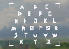 Triangulated Font Stock Images