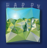 Triangulated Landscape 2015. Modern style illustration for the coming of the 2015 year Royalty Free Stock Images