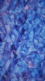 Triangulated multilayered blue glass shape abstract 3D rendering. Triangulated multilayered blue glass shape. Futuristic polygonal surface. Modern background Stock Photography
