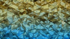Triangulated multilayered glass construction abstract 3D renderi. Triangulated multilayered glass construction. Futuristic polygonal surface. Abstract trendy Royalty Free Stock Image