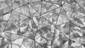 Triangulated multilayered glass shape abstract 3D rendering. Triangulated multilayered glass shape. Futuristic polygonal surface. Modern background. Abstract 3D stock illustration