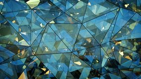 Triangulated multilayered glass shape abstract 3D rendering Stock Images