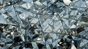 Triangulated polygonal futuristic glass surface abstract 3D rend. Triangulated polygonal futuristic glass surface. Contemporary background. Abstract 3D rendering Royalty Free Stock Image
