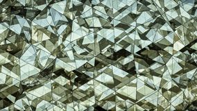 Triangulated polygonal futuristic glass surface abstract 3D rend Stock Images