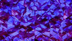Triangulated polygonal purple glass surface abstract 3D renderin Royalty Free Stock Photo