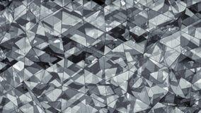Triangulated wielowarstwowego szklanego kształta abstrakcjonistyczny 3D rendering zdjęcia stock