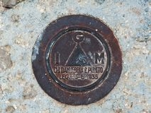 Triangulation σταθμός στοκ φωτογραφία με δικαίωμα ελεύθερης χρήσης