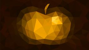 Triangulation background abstract apple gold. Illustration vector illustration