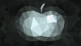 Triangulation background abstract apple gray. Illustration vector illustration