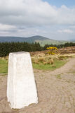 Triangulation Point. A Triangulation Point post on Beacon Fell, Lancashire, England Royalty Free Stock Photo