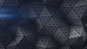 Triangulierte Form mit unterteilter Wiedergabe der Polygone 3D Stockfoto