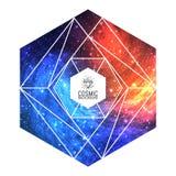 Triangulär färgrik kosmisk bakgrund för Hipster Royaltyfria Foton