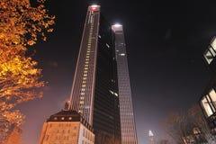 Trianon Kontrollturm in Frankfurt-am-Main Stockbilder