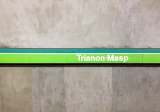 Trianon-Masp Station Royalty Free Stock Images