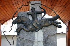 Trianon statue Transilvania. Trianon statue with hun horse rider Stock Images