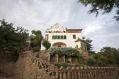 Trias de la casa, Parc Guell, Barcelona, España, septiembre de 2016 Imagen de archivo