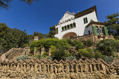 Trias House in Park Guell in Barcelona, Spain. Trias House in Park Guell in Barcelona, Spain Royalty Free Stock Images