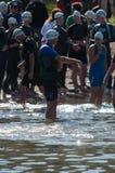 Triathalon-Schwimmer Stockfotografie