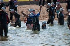 Triathalon-Schwimmer Stockfotos