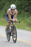 Triathlete Adam, Zastrow. Of San Rafael, CA shown on the bike part of the Triathlon Royalty Free Stock Photos