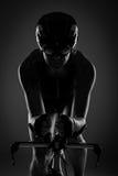 Triathlete auf Fahrrad stockfotografie