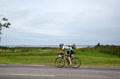 Triathlete australiano em Ironman Sweden 2012 Imagens de Stock