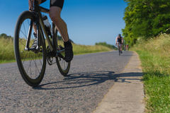 Triathlete bicycle race Stock Photography