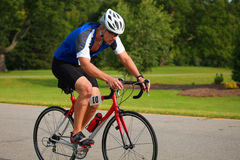 Triathlete Cycling Stock Photos