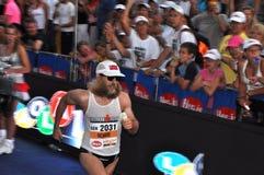 Triathlete dans le marathon Images stock
