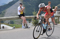 triathlete för belaubrefrederic fransman royaltyfri bild