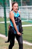 Triathlete femminile Immagine Stock