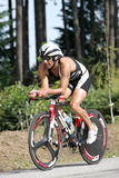 Triathlete Francisco Pontano royalty-vrije stock afbeelding