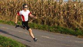 Triathlete in het lopen Royalty-vrije Stock Foto