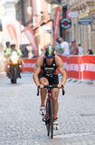 Triathlete Patrick Rhyner cycling Stock Images
