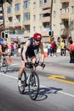Triathlete Peter Caldicott royalty free stock images