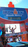 Vincitore maschio Ironman Sudafrica 2013 Fotografia Stock Libera da Diritti