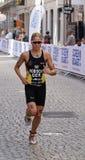 Triathlete Rebecca Robisch running Royalty Free Stock Photo