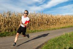 Triathlete in running Stock Photo