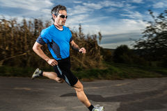 Triathlete in running Stock Images