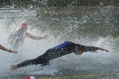 Triathlete's Dive Stock Photos